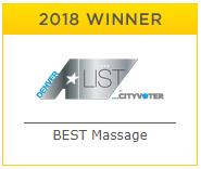 Denver A List Winner for Best Massage in Denver 2018
