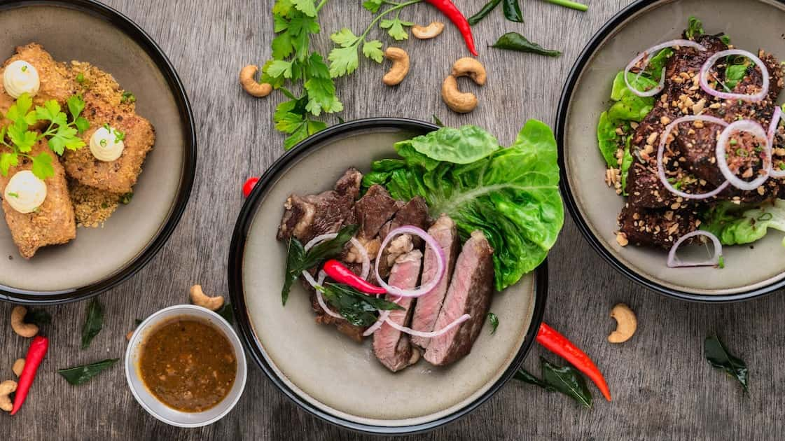 why start with protein - meat on plates