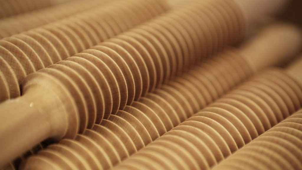 Rolling pin for self-massage