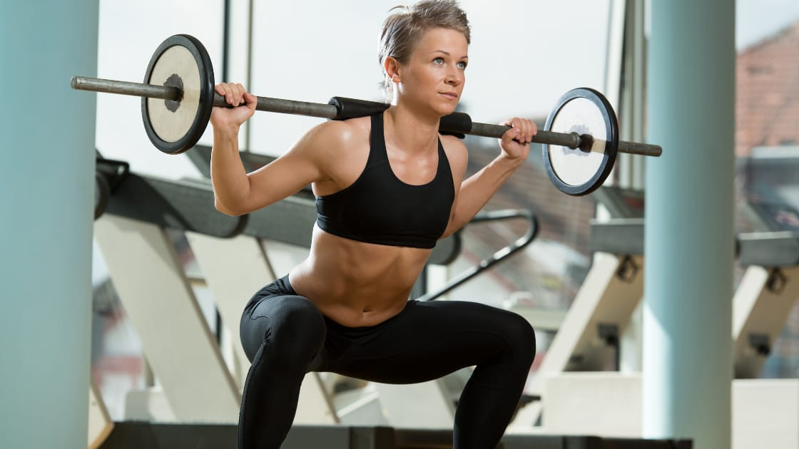 Woman Squatting with Perfect Form 2