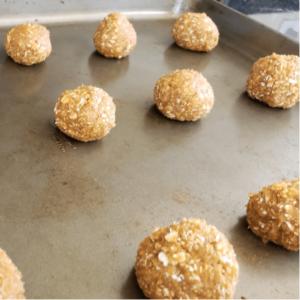 Pumpkin Peanut Butter Oatmeal Cookies Rolled into Balls