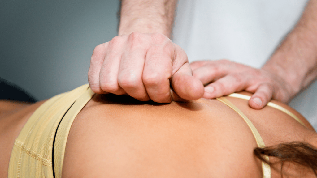 Myofascial Release being performed on the Back Muscles