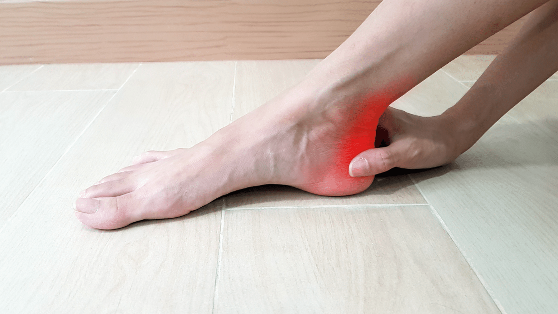 Pain in heel from achilles tendinitis