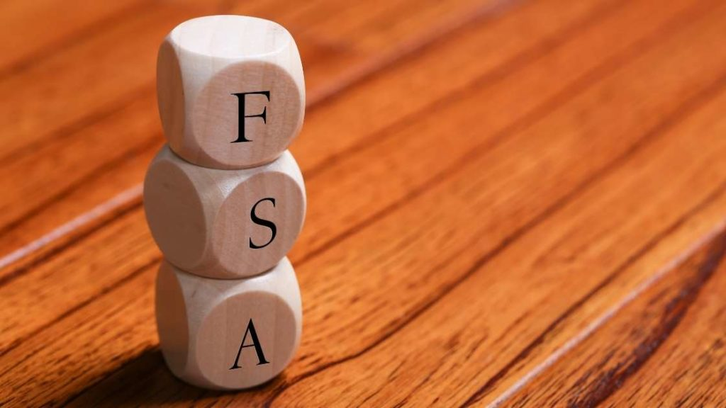 wood blocks stacked that spell out fsa