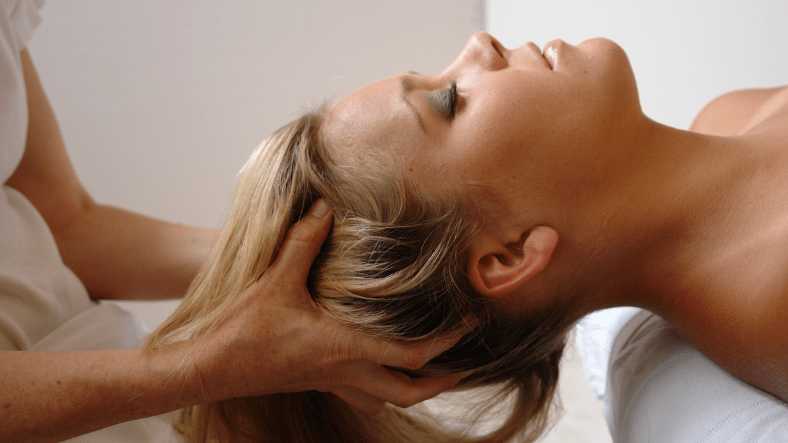 woman getting craniosacral therapy