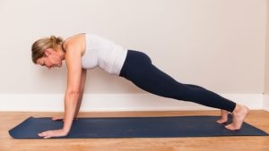 woman planking with improper form